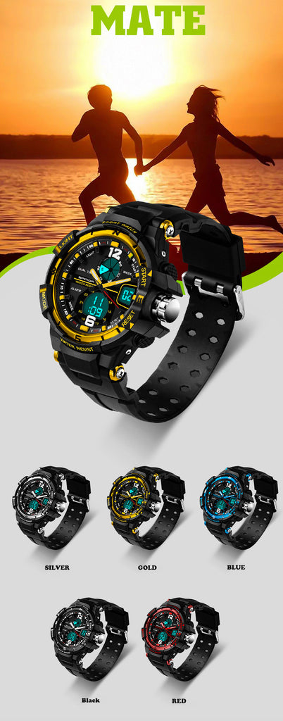 Fast and Furious 7 Sanda Fashion Watch Men Military Sports Watch Waterproof LED Digital Watch Men's Luxury Analog Quartz Digital-watch