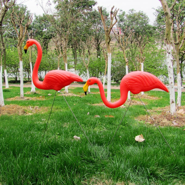 Sculptural Featherstone Flamingos