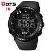 OTS Digital Watches men sports 50M Professional Waterproof Quartz large dial hours military Luminous wristwatches 2016 fashion