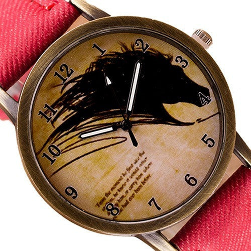FREE Newly Vintage Horse Watch - Mercazone