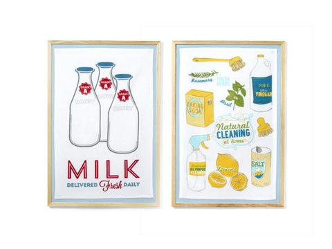Picture of two framed tea towels