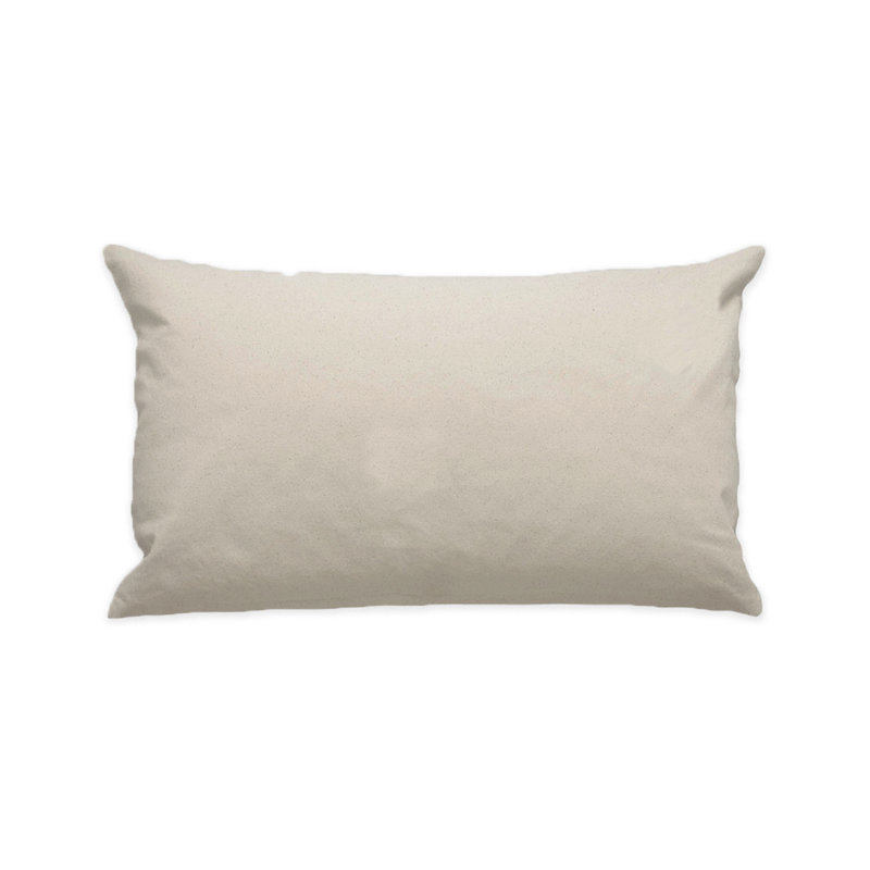 "10""x18"" Natural Cotton Canvas Decorative Pillow Case"