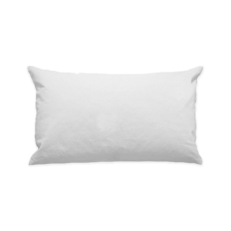"10""x18"" White Cotton Canvas Decorative Pillow Case"