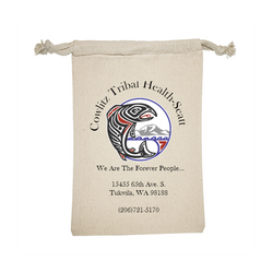 "Personalized Cotton Drawstring Gift Bag 4""x6"""