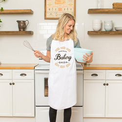 Personalized White Retro Apron with Pocket