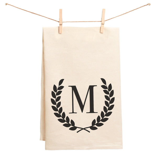 Monogrammed Wreath Towel