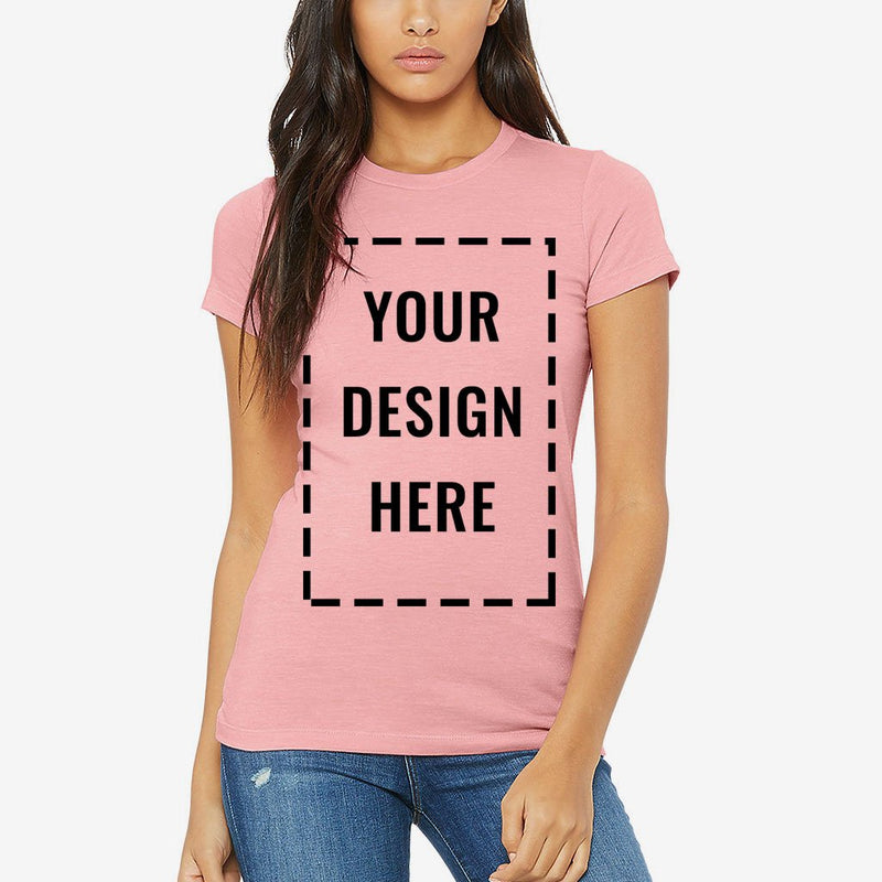 Custom Printed Bella Canvas Women's Fitted Tee Shirt