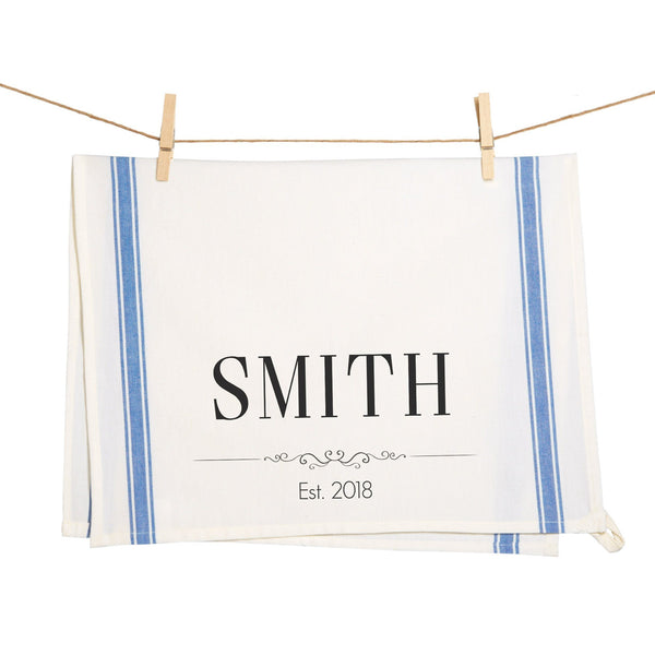 Last Name and Date Towel