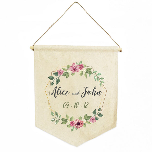 Personalized Natural Cotton Shield Banner