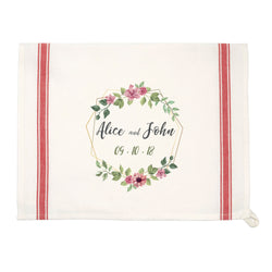 Personalized Vintage Red-Striped Kitchen Towel