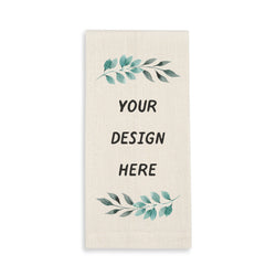 Personalized Linen Cream Guest Towel