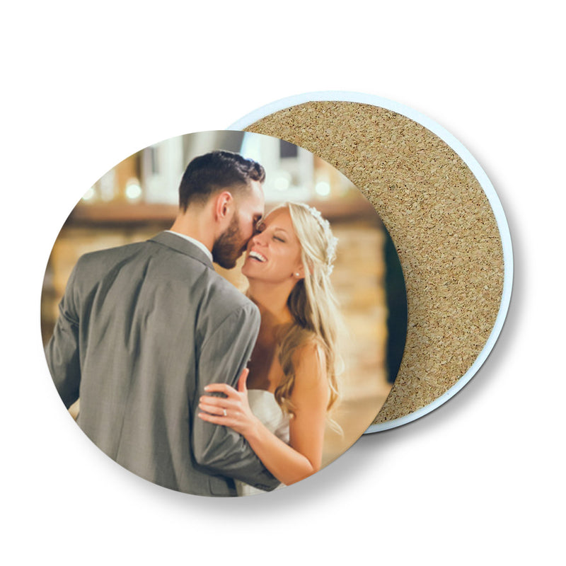 Personalized Absorbent Round Ceramic Stone Coasters