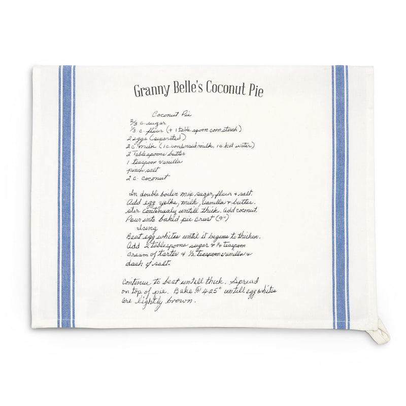 Blue Striped Recipe Towel