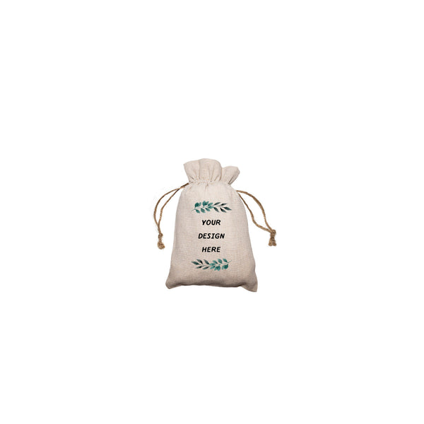 "Personalized Linen Drawstring Gift Bag - 3""x 4"""