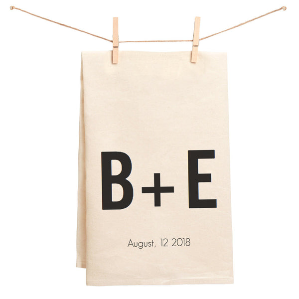 Custom Initials Towel with Date