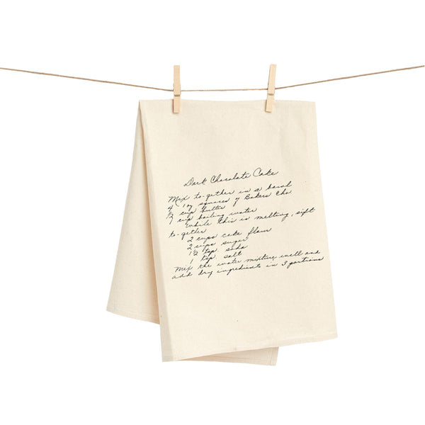 Customized Recipe Towel