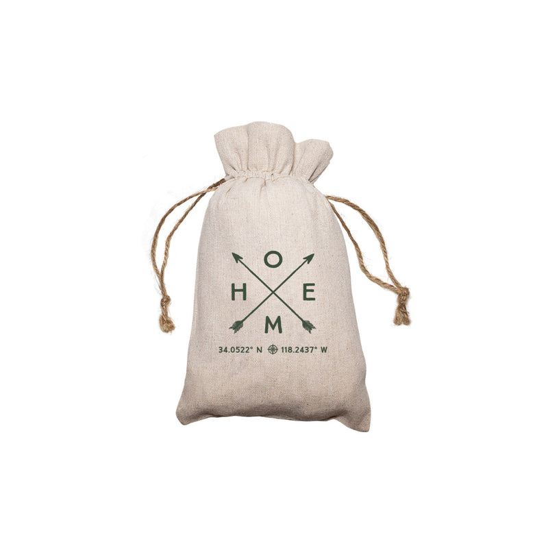 "Personalized Linen Drawstring Gift Bag - 5""x 7"""