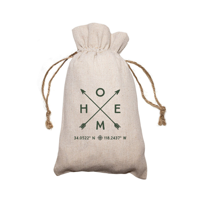 "Personalized Linen Drawstring Gift Bag - 6""x 10"""