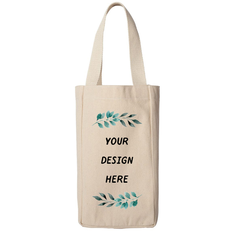 Personalized Two Bottle Wine Tote Carry Bag