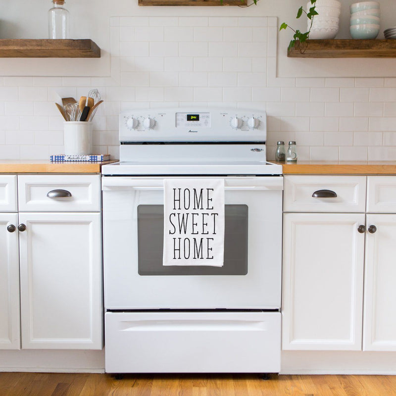 """Home Sweet Home"" Tea Towel- Housewarming Gift Towel"