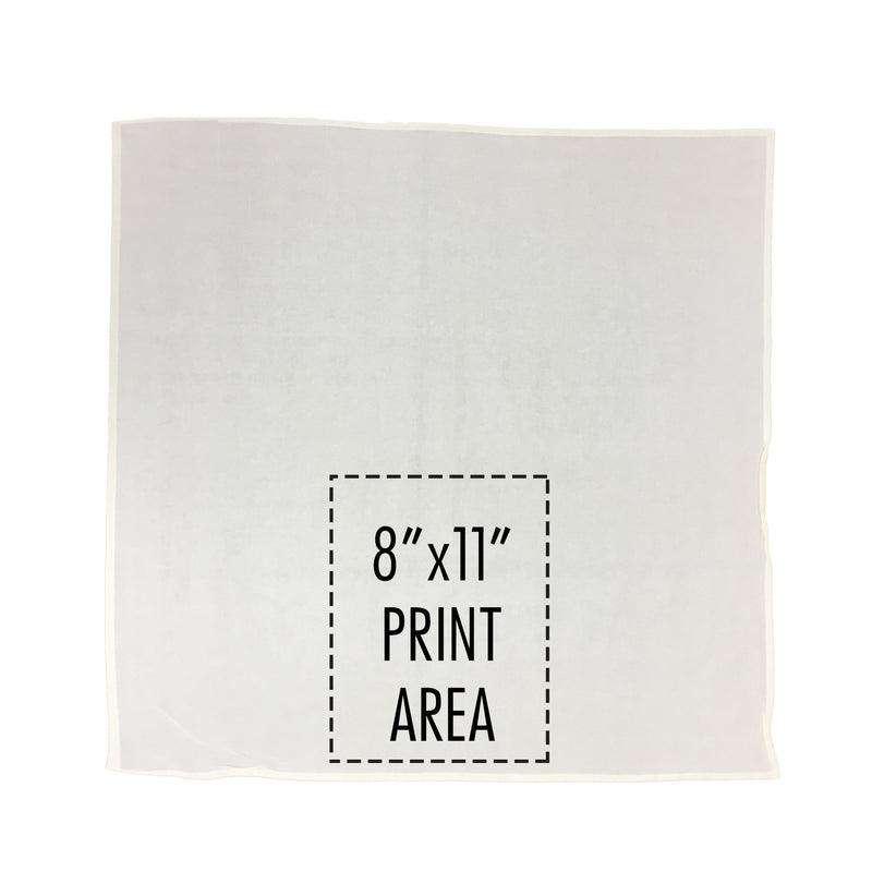 Personalized White Flour Sack Towel