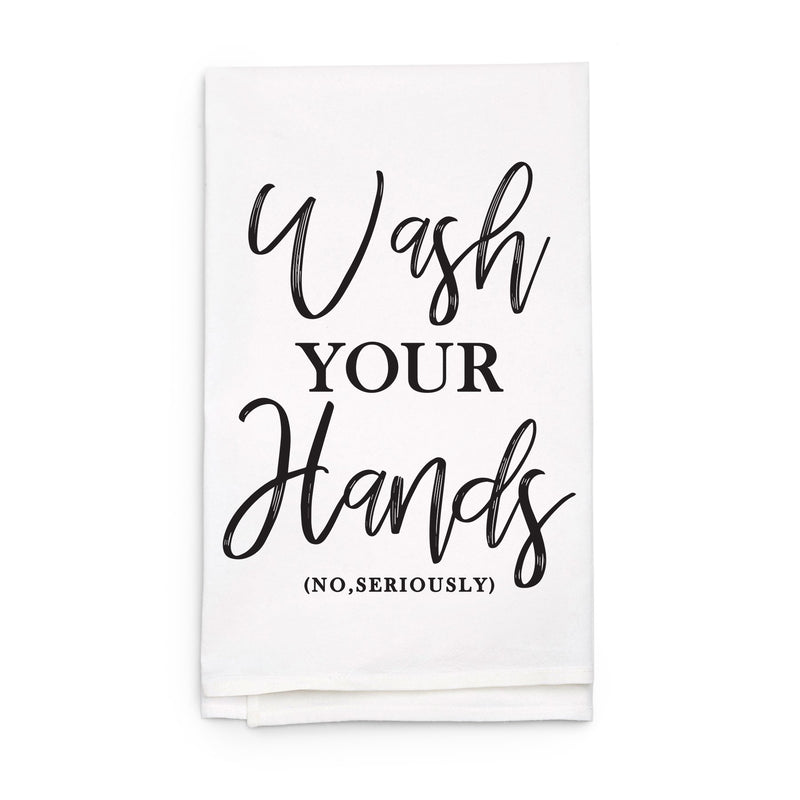 Wash Your Hands - Funny Kitchen Tea Towel