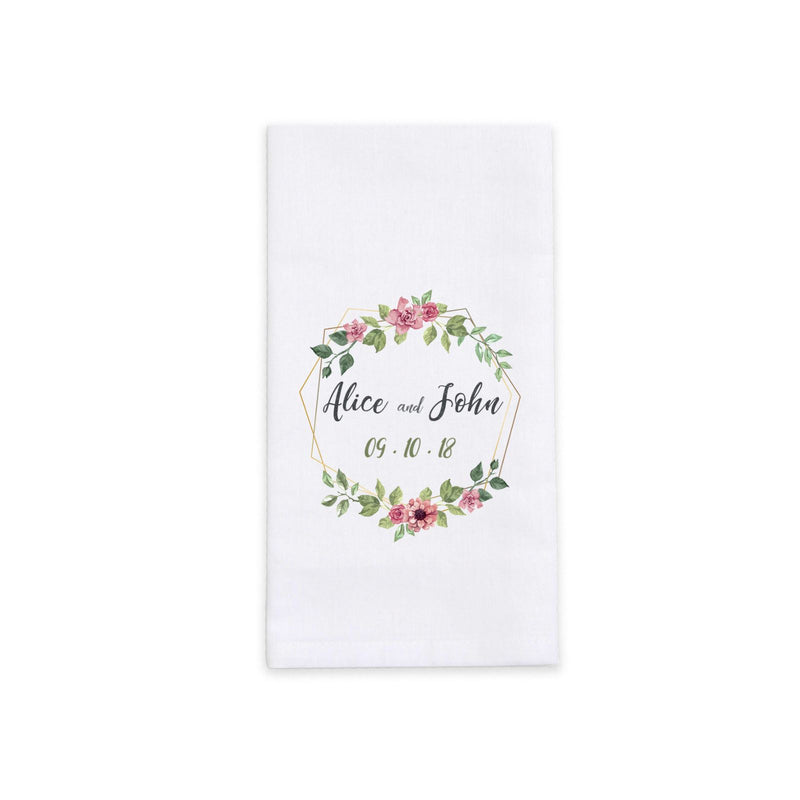Personalized White Cotton Dinner Napkins (Set of 4)