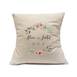 "Custom Printed Natural Canvas Pillowcase with Zipper 18""x18"""