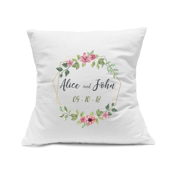 Personalized White Square Canvas Pillow Cover
