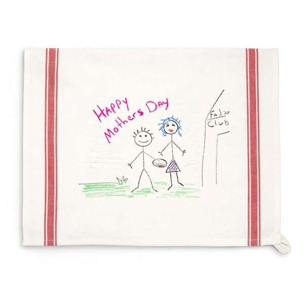 Red Striped Custom Child Art Towel