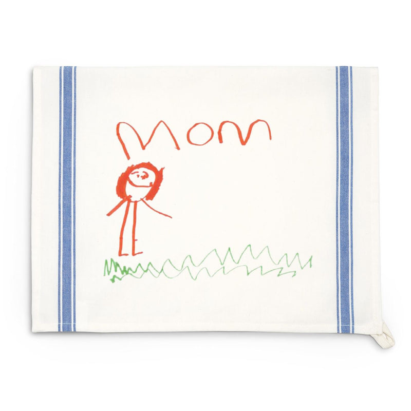 Blue Striped Custom Child Art Towel