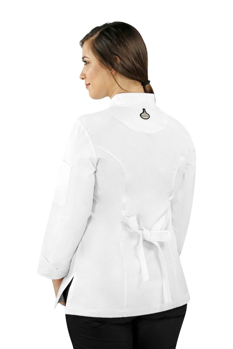 Classic Women's Chef Coat with Smooth Front