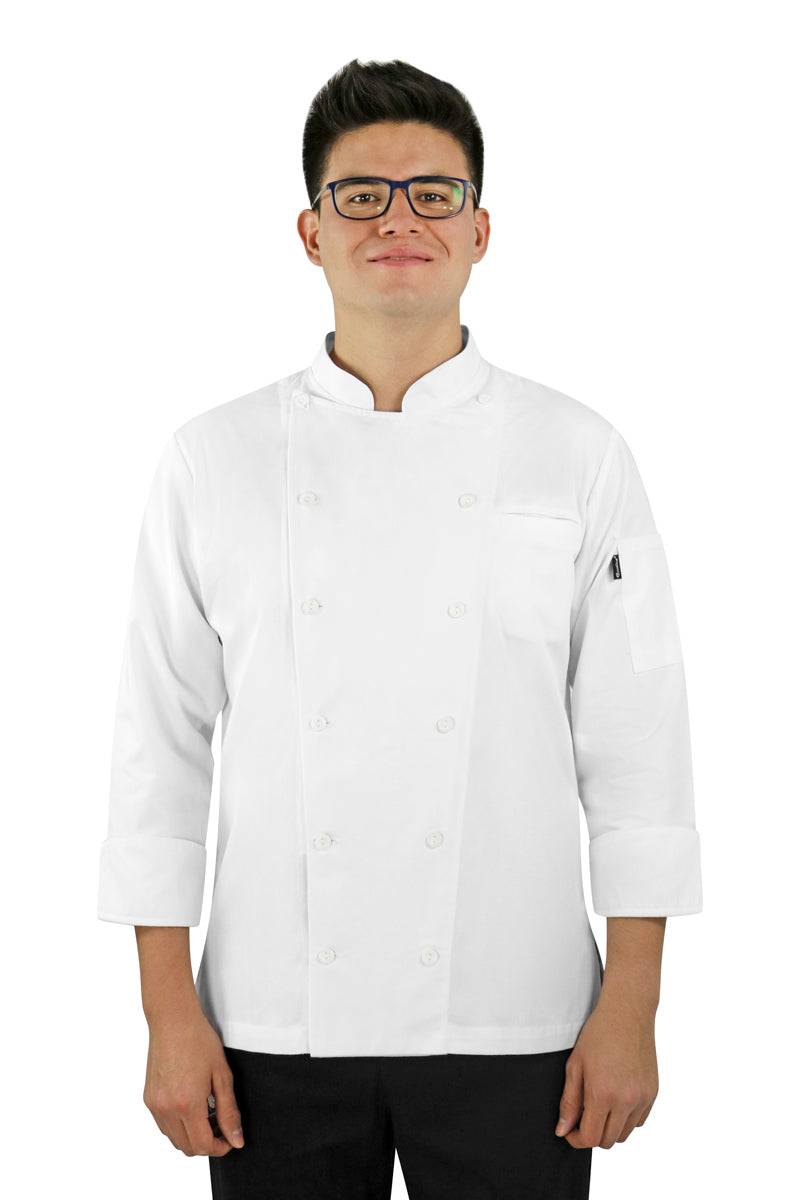 Classic Men's Chef Coat with Smooth Front