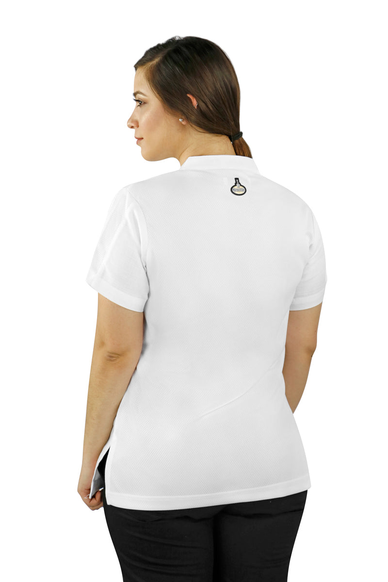 Dubai White Women's Chef Coat - PermaChef USA