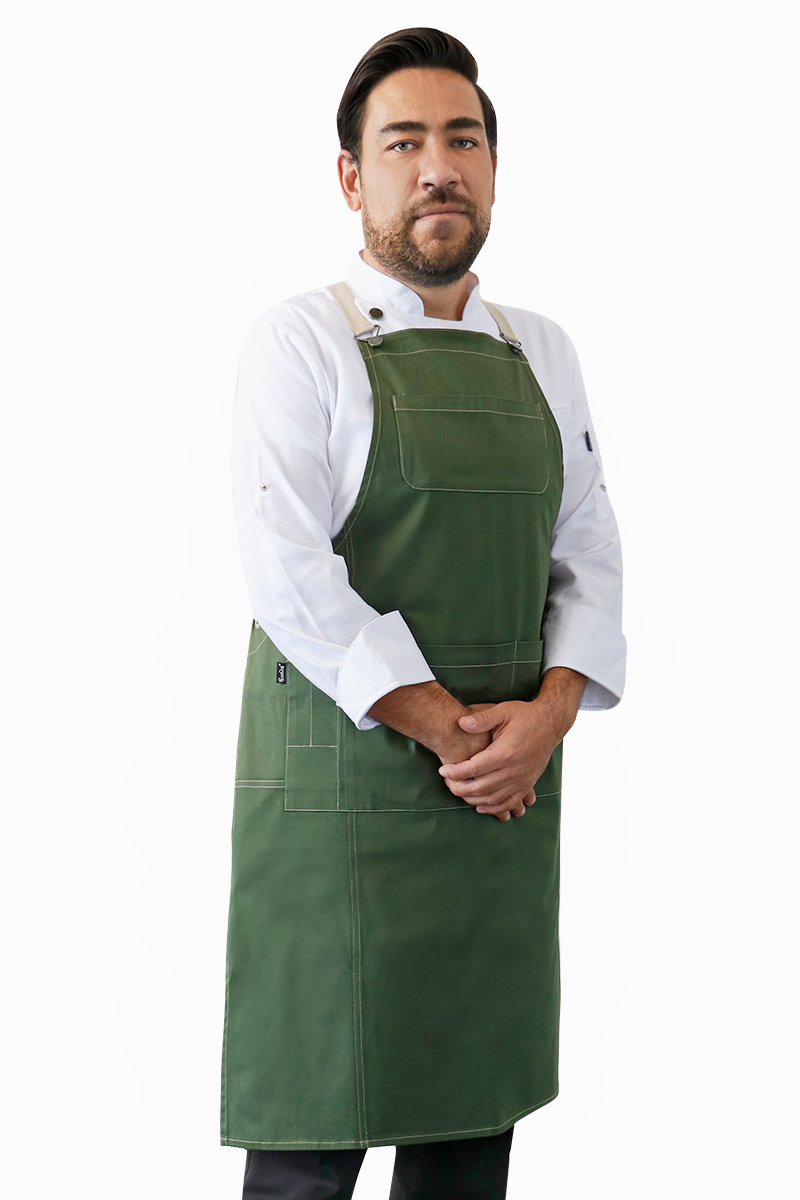 Green Texas Bib Apron - PermaChef USA