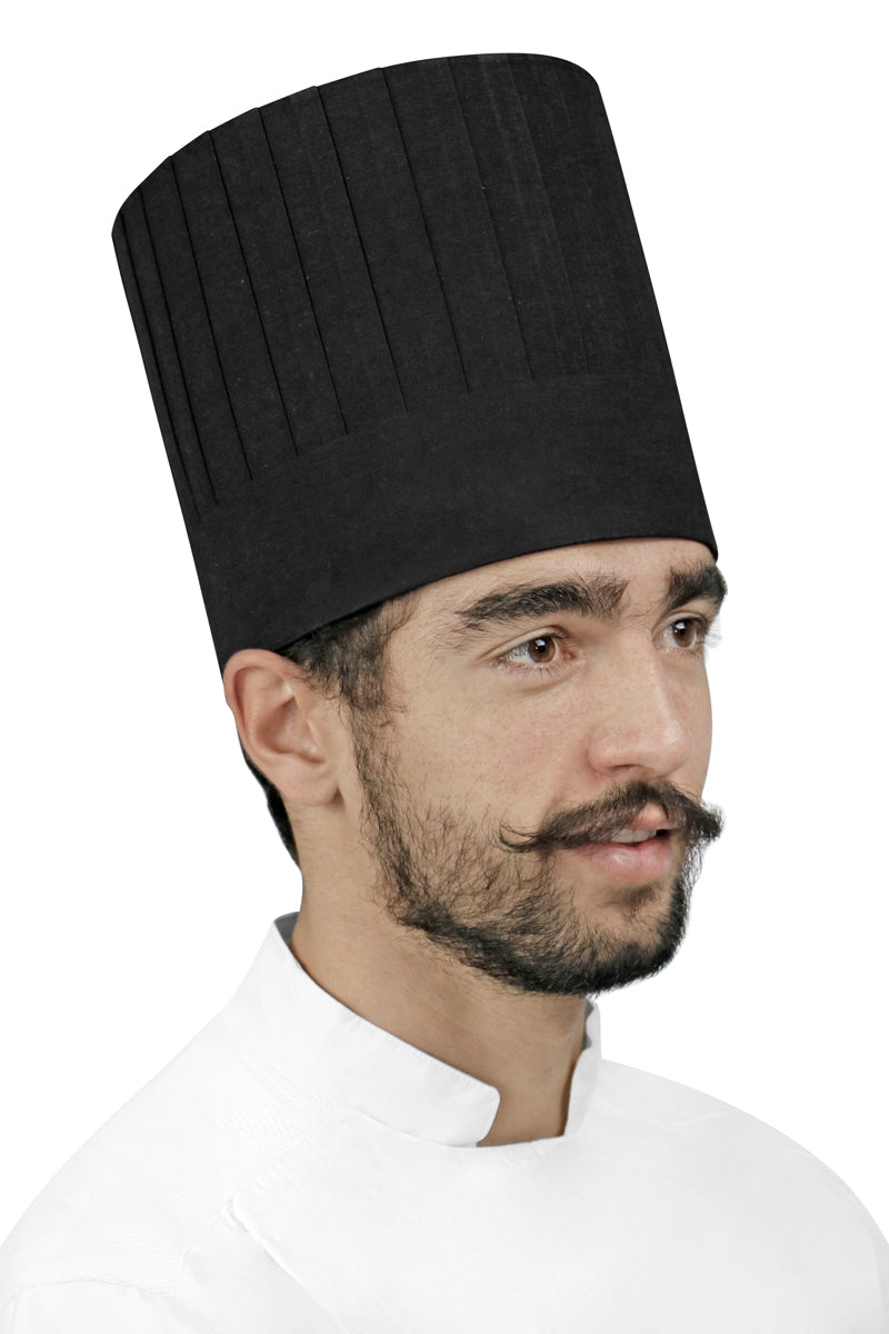 "Pleated Chef Hat 7"" Height - PermaChef USA"