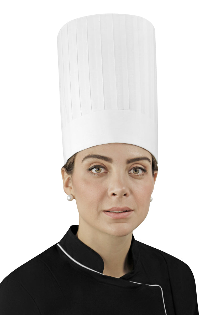 "Pleated Chef Hat 10"" Height - PermaChef USA"