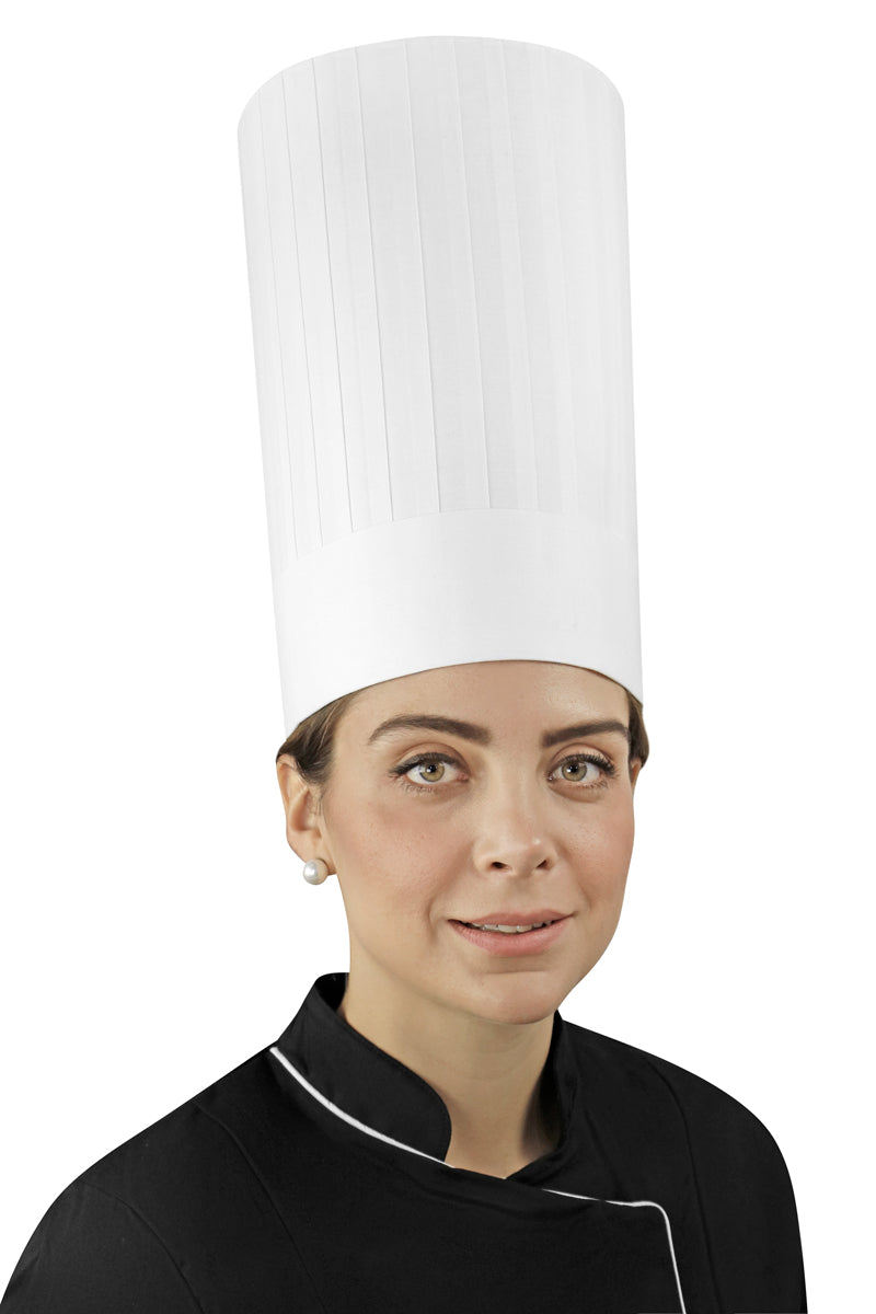 "Pleated Chef Hat 12"" Height - PermaChef USA"