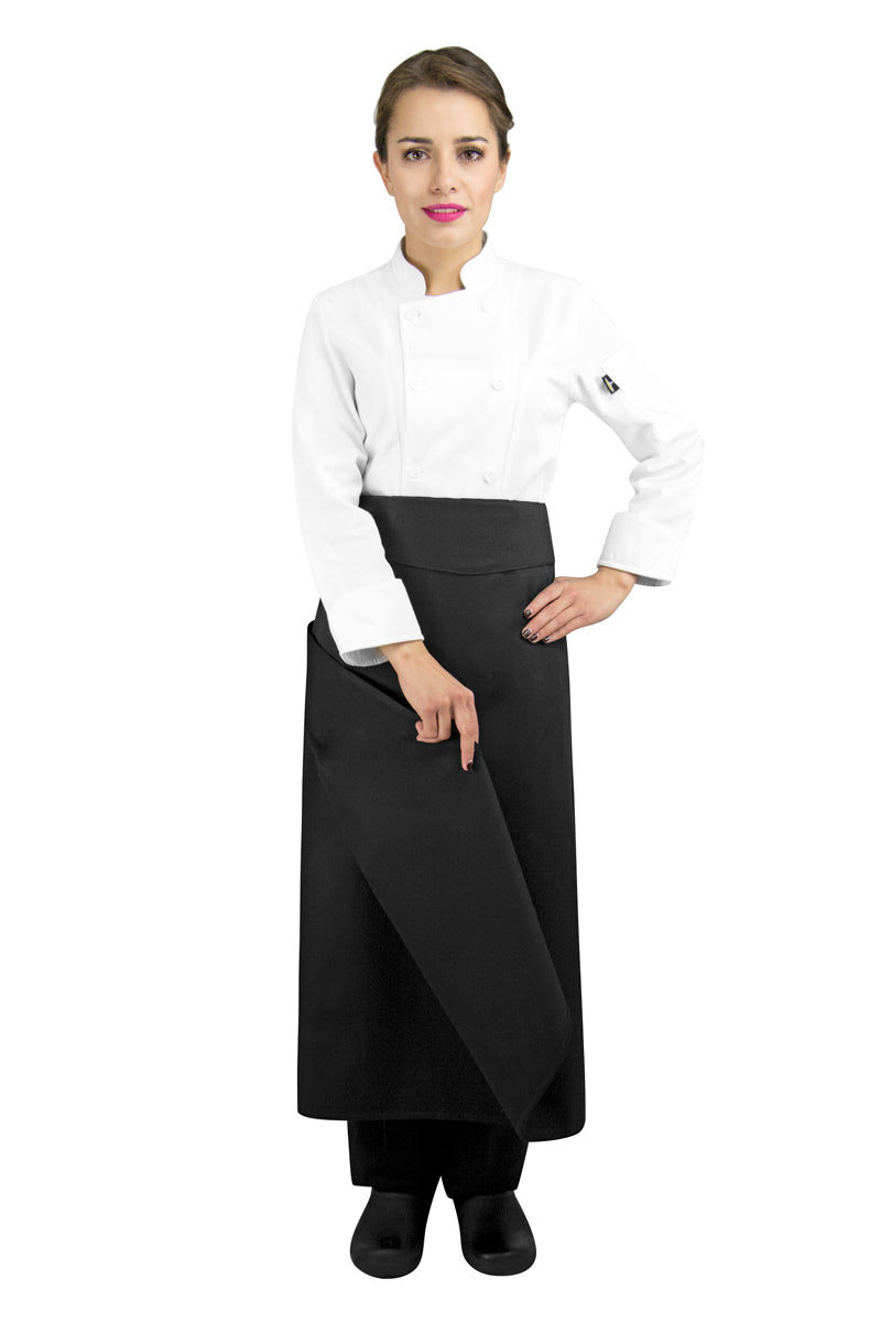 Four-Way Chef Apron with Waistband
