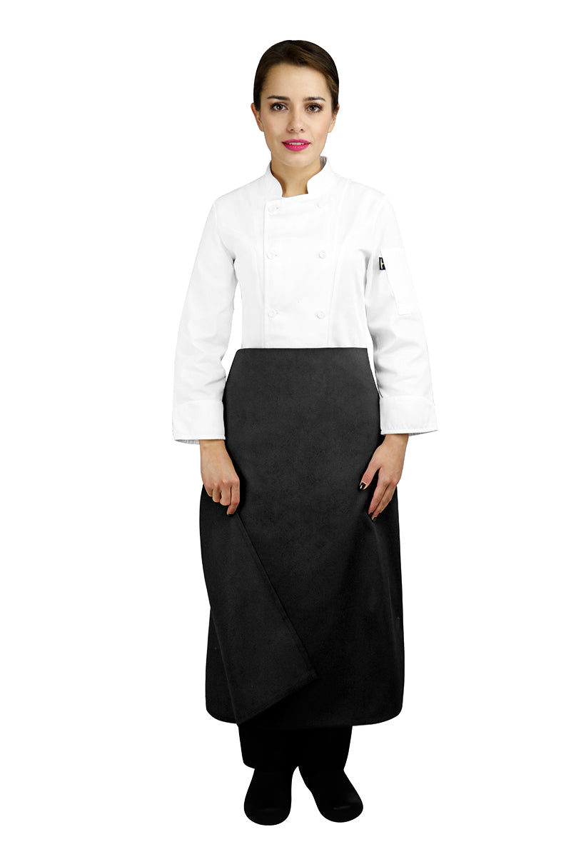 Four-Way Chef Apron without Waistband