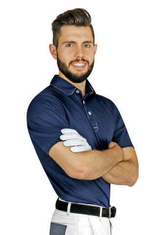 Navy Blue Sport Chef Polo - PermaChef USA