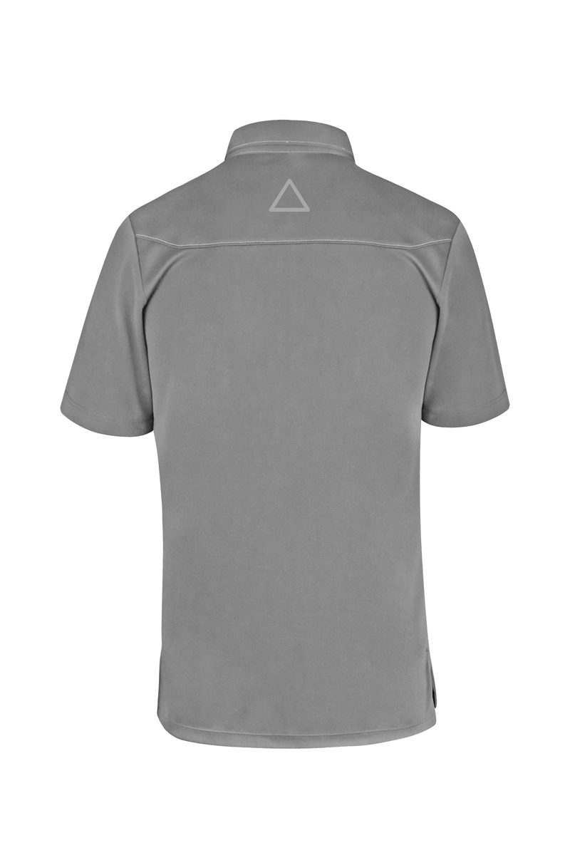 Gray Sport Chef Polo