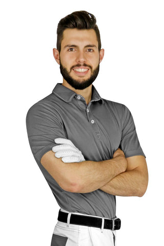 Gray Sport Chef Polo - PermaChef USA