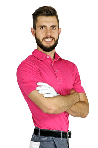 Pink Sport Chef Polo - PermaChef USA
