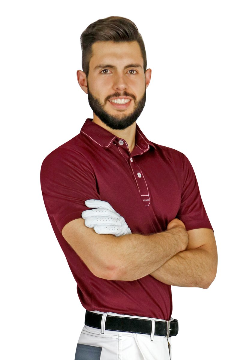 Red Sport Chef Polo