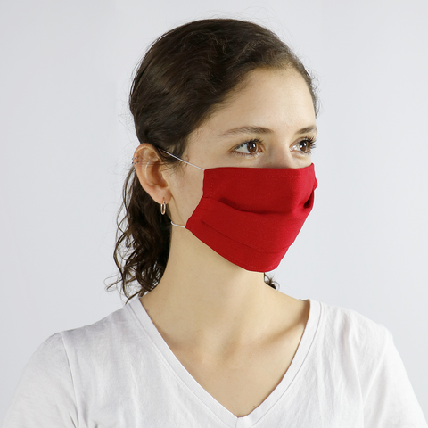 Red Washable and Reusable Cloth Face Mask (10-Pack) - PermaChef USA