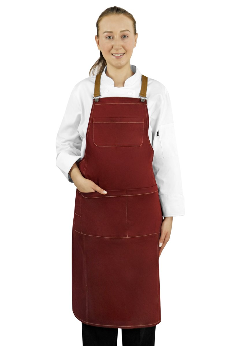 Red Texas Bib Apron - PermaChef USA
