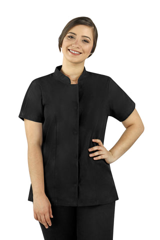 Dubai Black Women's Chef Coat - PermaChef USA