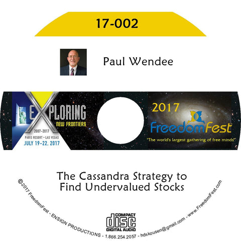 Paul Wendee - The Cassandra Strategy to Find Undervalued Stocks