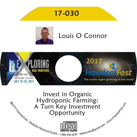Louis O Connor - Invest in Organic Hydroponic Farming: A Turn Key Investment Opportunity